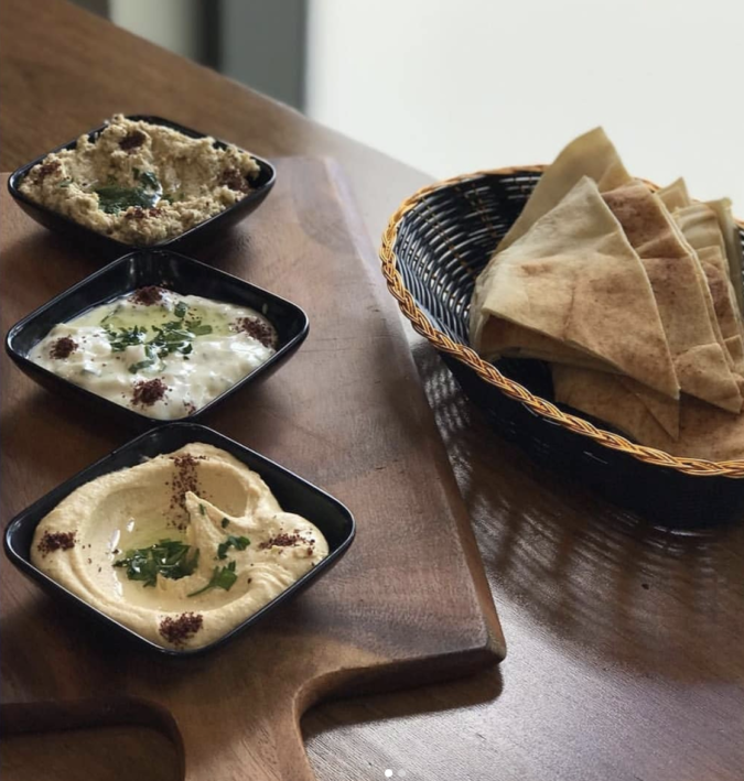 dips and bread